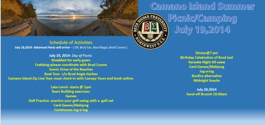 Camano Island Summer Picnic/Camping